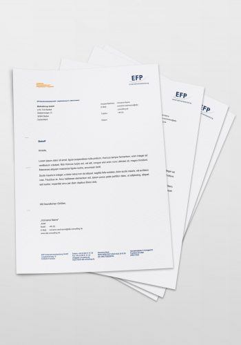 Mock Up Briefpapier EFP