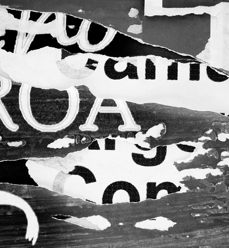 Schmuckbild: Kommunilkations- und Werbeagentur in Gießen – Ads&Friends : Collage aus verschiedenen Typografien