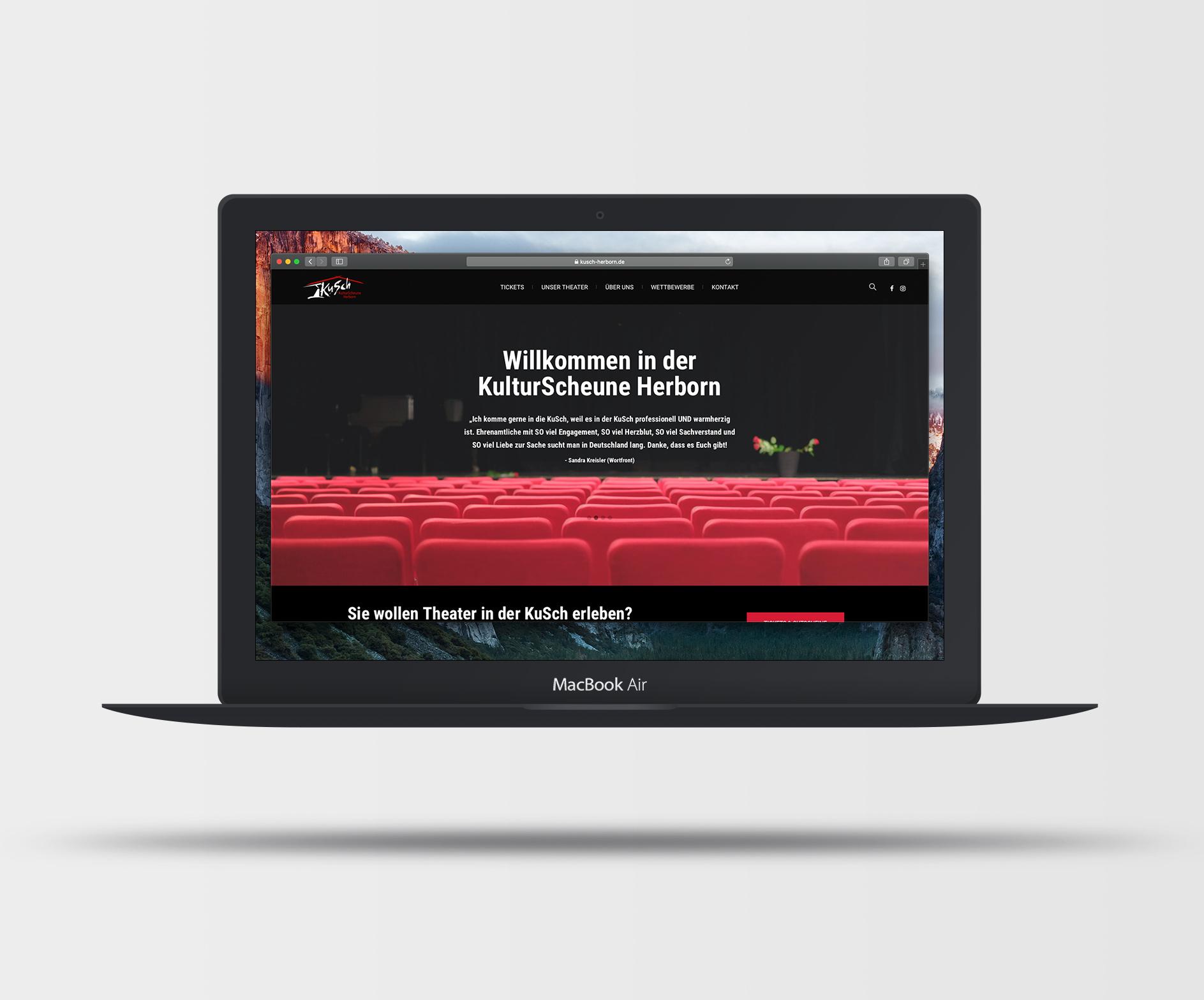 MockUp Webseite Kulturscheune Herborn