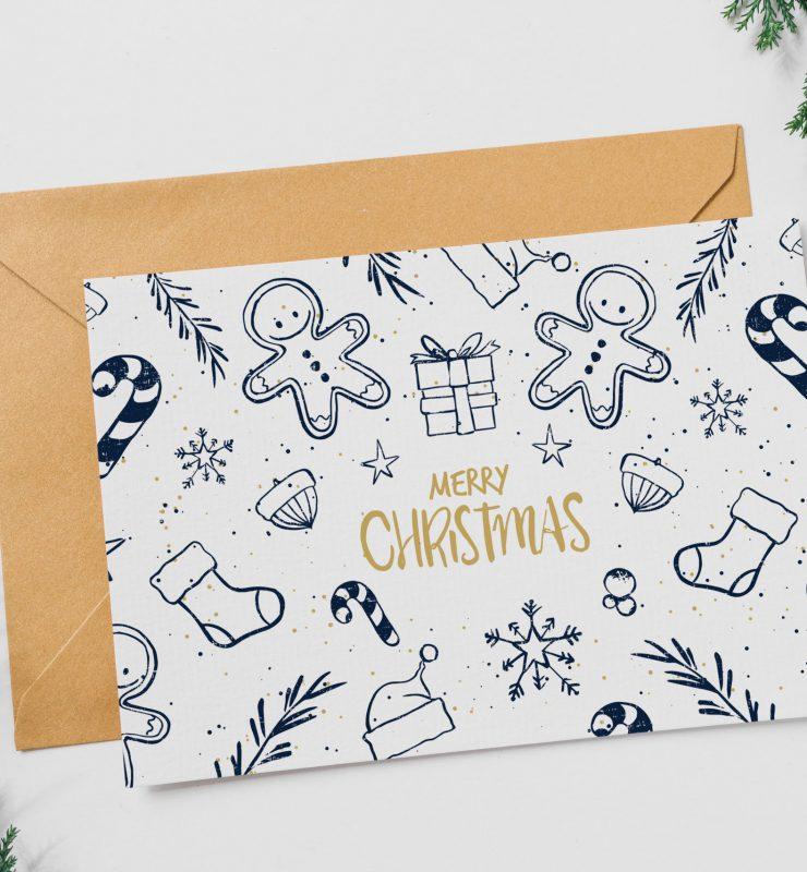MockUp einer Weihnachtskarte