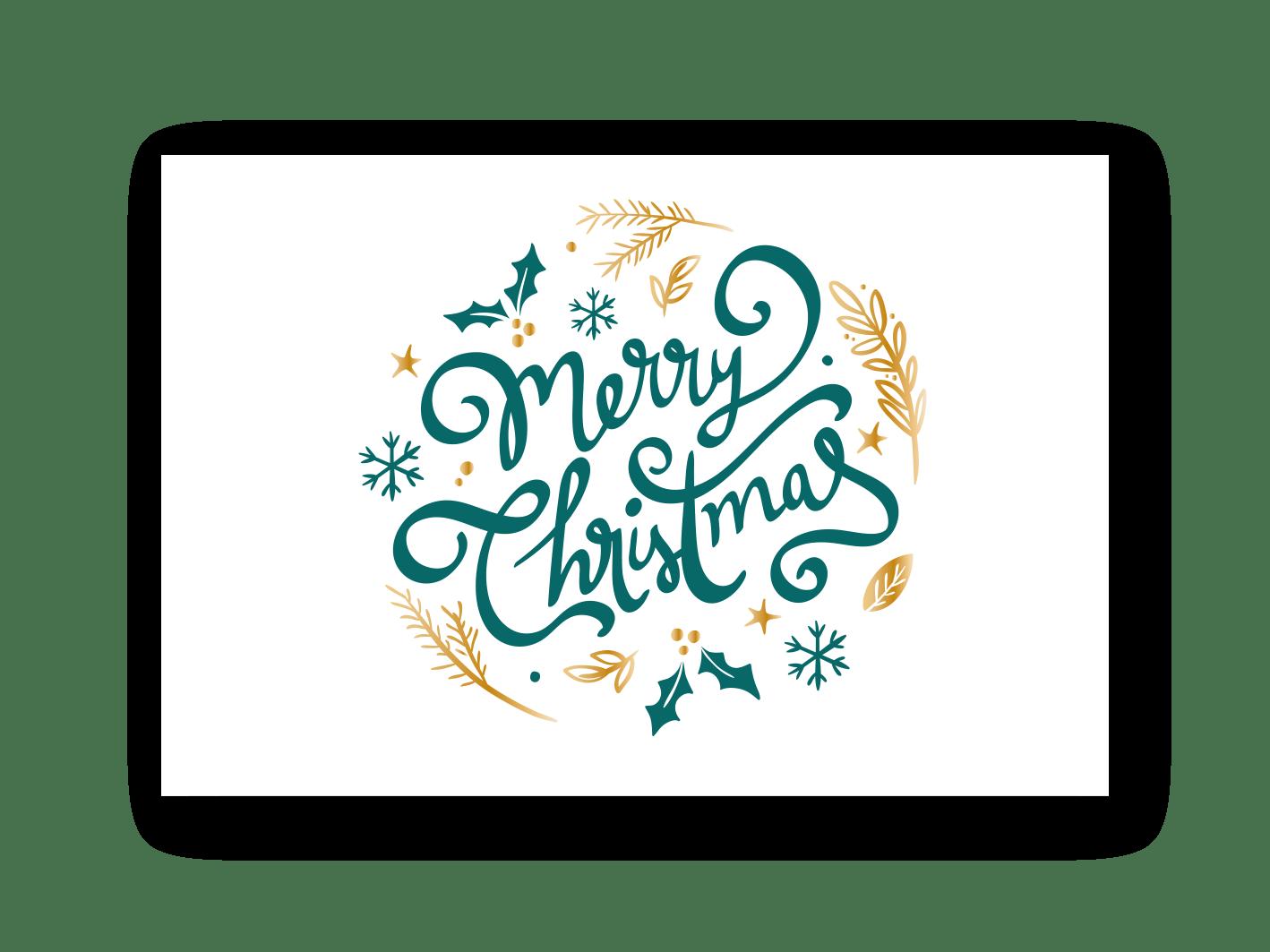 Weihnachtskarte Beispiel