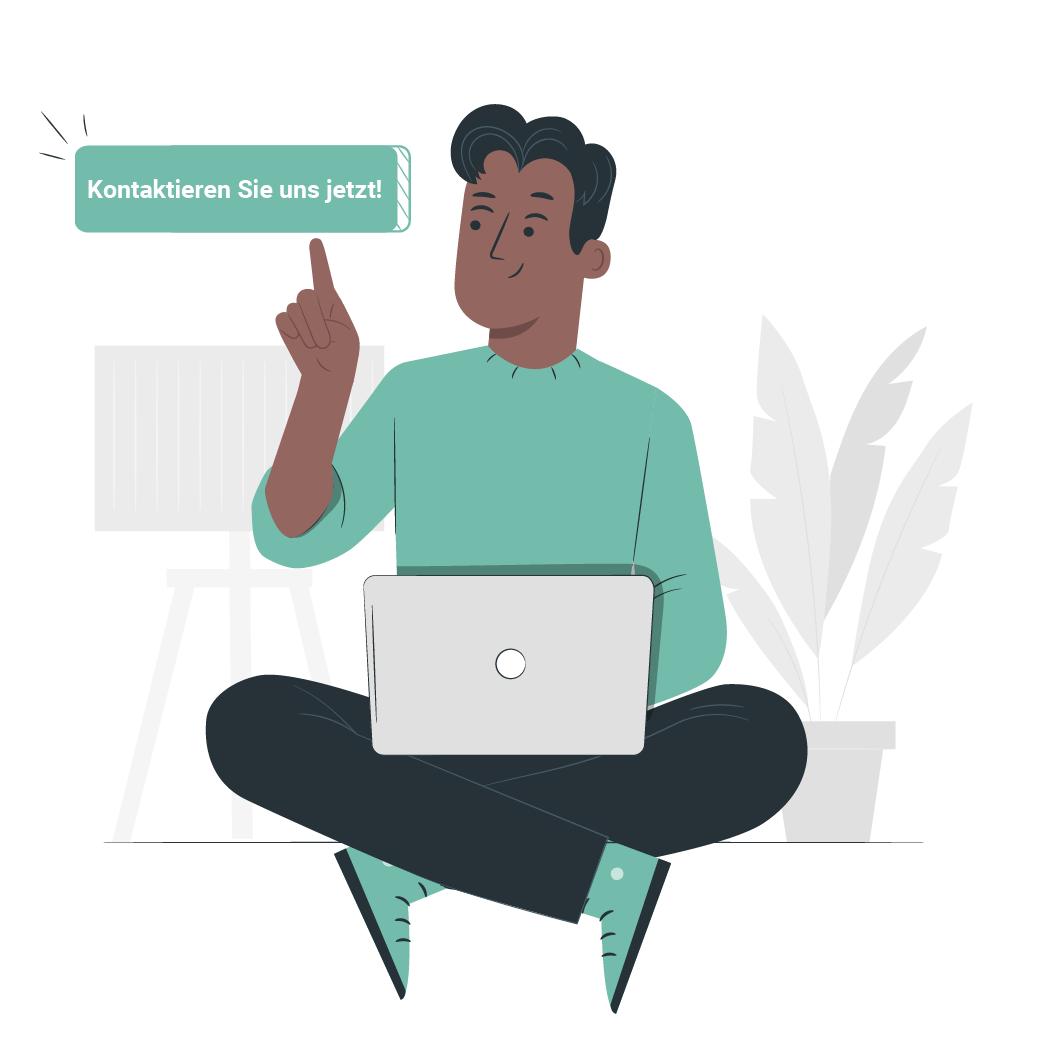 Illustration: Kontaktieren Sie uns jetzt – Click & Meet