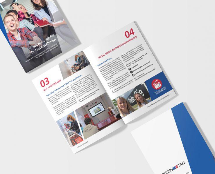 Broschuere für Nachwuchsfoerderung - Hessenmetall
