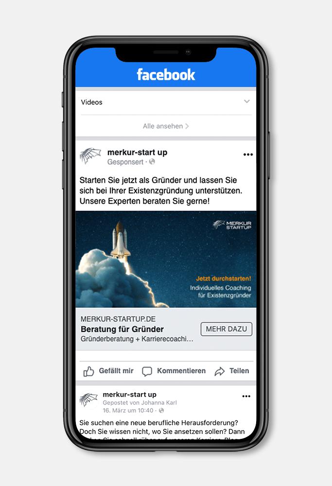 MockUp Facebook Ads merkur-startup