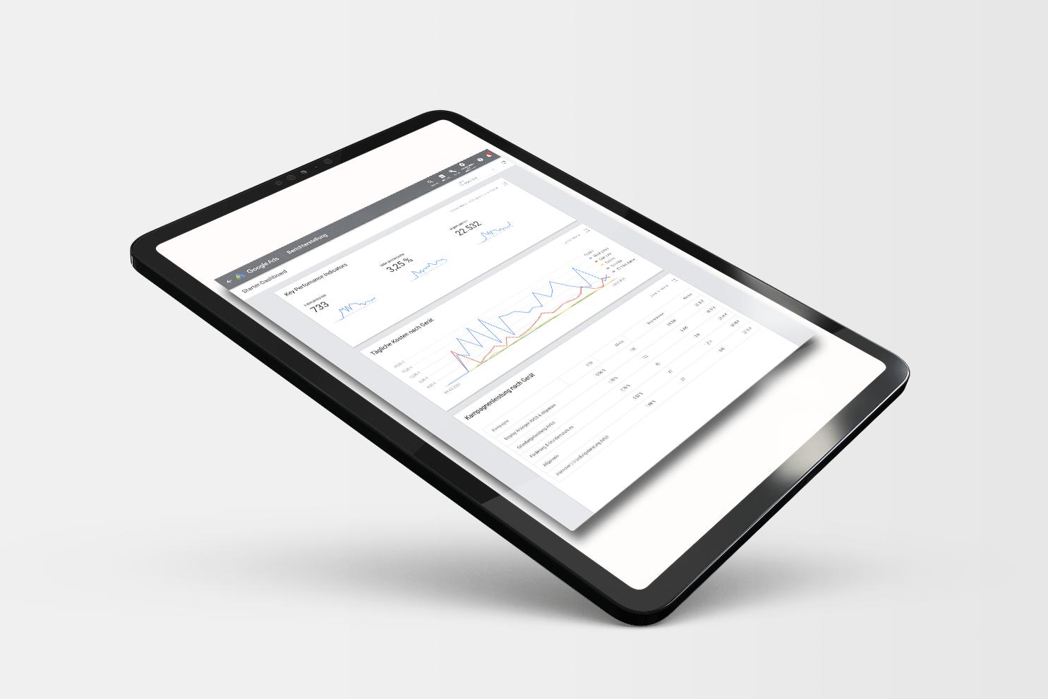 MockUp Google Ads Dashboard merkur-startup
