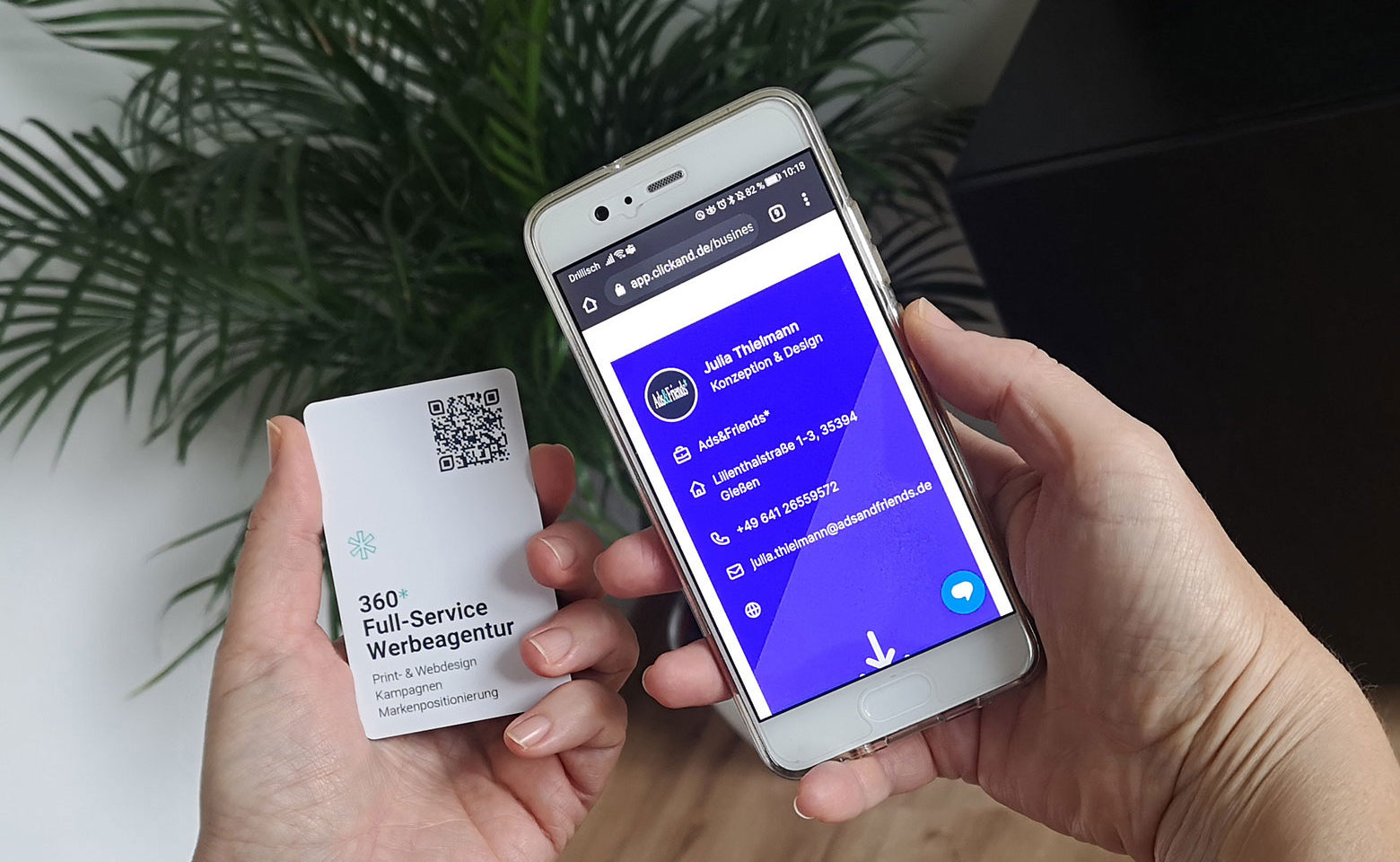 Digitale-Visitenkarten generieren